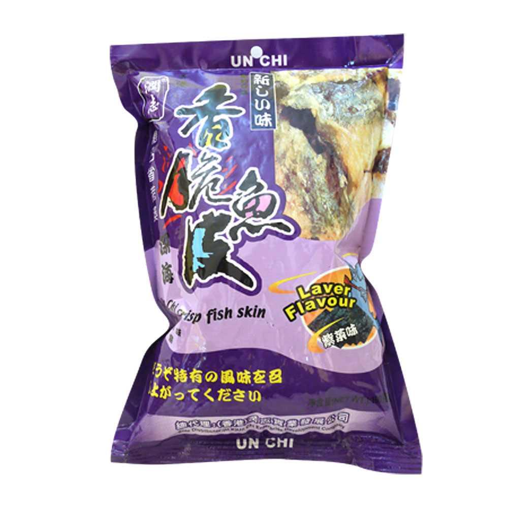 潤志香脆魚皮100克(紫菜)